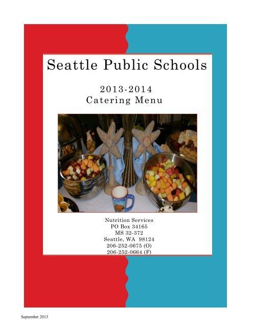 Catering Menu - Seattle Public Schools