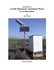 A Field Manual for Automated Water Level Recorders - Texas Water ...