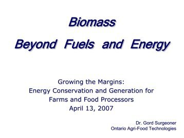Biomass Beyond Fuels and Energy