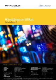 hävstångscertifikat globala bolag 2 - Mangold Fondkommission