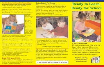 DCPS Kindergarten Brochure - Daviess County Public Schools
