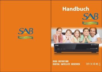 Bedienungsanleitung SAB 4700 HD - Digital-Sat-Online.de