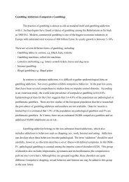 Gambling Addiction (Compulsive Gambling) The practice of ...