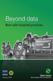 Beyond Data: Best Safe Hospital Practices - Health Emergency ...