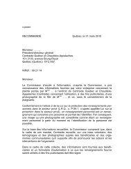 X et Centraide Québec et Chaudière-Appalaches - Commission d ...