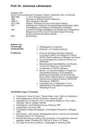 Prof. Dr. Johannes Lähnemann - NETZWERK BILDUNG UND ...