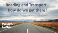 Roading and Transport – how do we get there? - Local Government