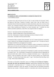 MINUTA DE ACTA DA ASSEMBLEIA GERAL EXTRAORDINÁRIA ...