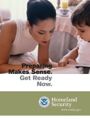 Preparing Makes Sense. Get Ready Now. - Health and Welfare