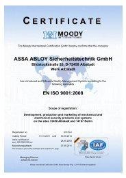 DIN EN ISO 9001:2008 - Assa Abloy