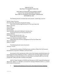 IDA Board of Directors Meeting Minutes September 2012 - NYCEDC