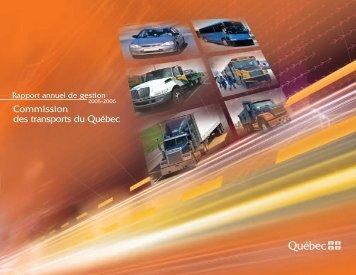 Le rapport annuel 2005-2006 - Commission des transports du Québec