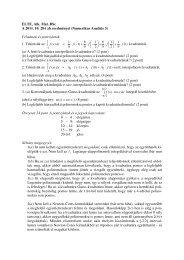 ELTE, Alk. Mat. BSc A 2011. 10. 28-i zh eredményei (Numerikus ...