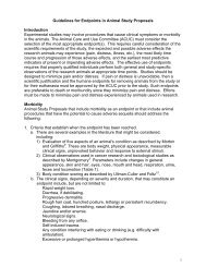 Guidelines for Endpoints in Animal Study Proposals Introduction ...