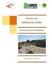 Ferrarias, Lda. PEDREIRA VALE MARIA rrarias, Lda ... - CCDR-LVT
