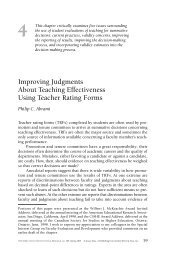 Improving Judgments About Teaching Effectiveness Using Teacher ...