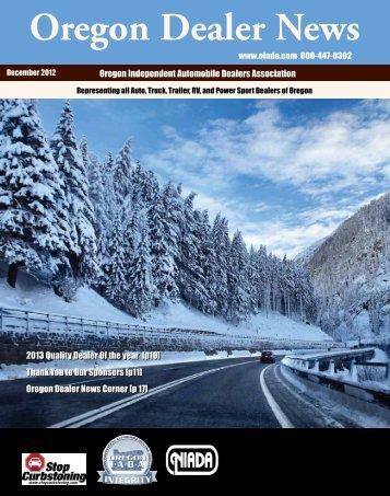 December 2012 - Oregon Independent Automobile Dealers ...
