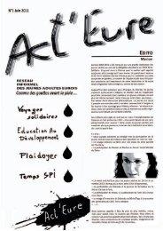 n° 1 Juin 2011: Comme des gouttes avant la pluie - Diocèse d'Evreux