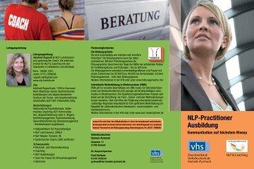 NLP-Practitioner Ausbildung - VHS Hameln-Pyrmont