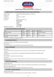 SAFETY DATA SHEET Jeyes Professional Stainless Steel ... - Arco