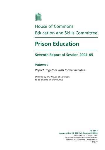 Prison Education - Publications.parliament.uk