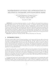 neighborhood systems and approximation in relational databases ...
