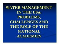WATER MANAGEMENT IN THE USA: PROBLEMS ... - ianas