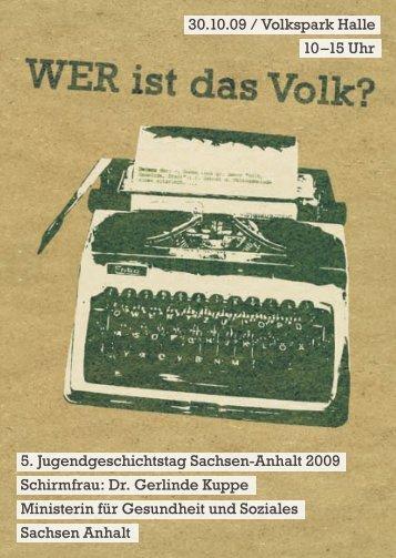 15 Uhr 5. Jugendgeschichtstag Sachsen-Anhalt 2009 ... - orfide