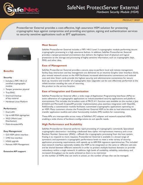 SafeNet ProtectServer External - Global Forte