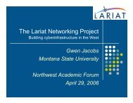 The Lariat Networking Project - WICHE