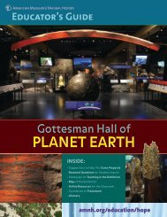 PLANET EARTH - American Museum of Natural History