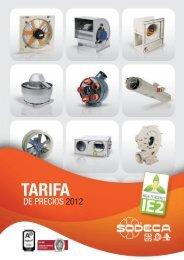 TARIFA 2012 pdf - Sodeca