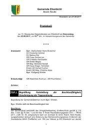 Gemeinderatssitzung vom 22.09.2011 (281 KB) - .PDF - Ehenbichl ...