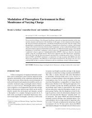 Modulation of Fluorophore Environment in Host Membranes ... - CCMB