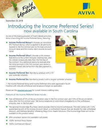 Income Preferred in SC.indd - ECA Marketing