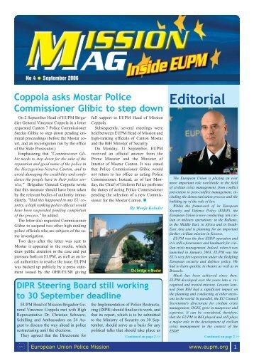 Mission MAG 04.qxp - European Union Police Mission in Bosnia ...