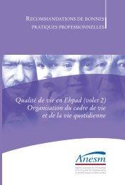 Qualité de vie en Ehpad (volet 2) Organisation du cadre ... - Capgeris
