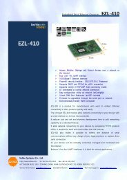 Embedded Serial Ethernet Converter EZL-410 Sollae Systems Co ...
