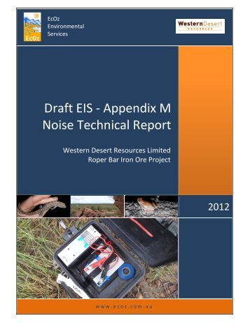 Appendix M Noise Technical Report - NTEPA - Northern Territory ...