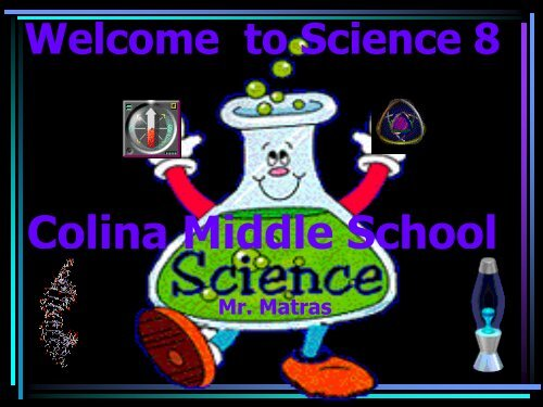 Back to School Night Info Powerpoint - Colina Middle School