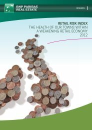 RETAIL RISK INDEX THE HEALTH OF OUR TOWNS ... - BNP Paribas