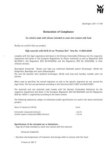 Declaration Of Performance Glass For Europe