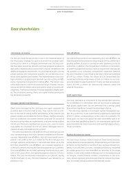 Letter to shareholders - Liechtensteinische Landesbank