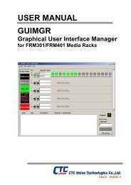 GUIMGR Operation Manual - CTC Union Technologies Co.,Ltd.