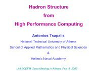 Hadron Structure from High Performance Computing - LinkSCEEM