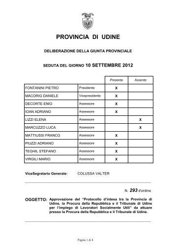 e il tribunale di udine - Provincia di Udine