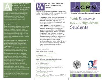 Work Experience Options for High School Students - Oklahoma ...