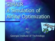 Purpose of SimAir - Uses in Airline Planning & Operations