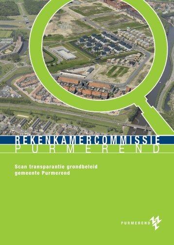 Onderzoeksrapport Transparantie grondbeleid gemeente ...