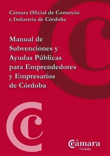 Manual de subvenciones - Cámara Emplea